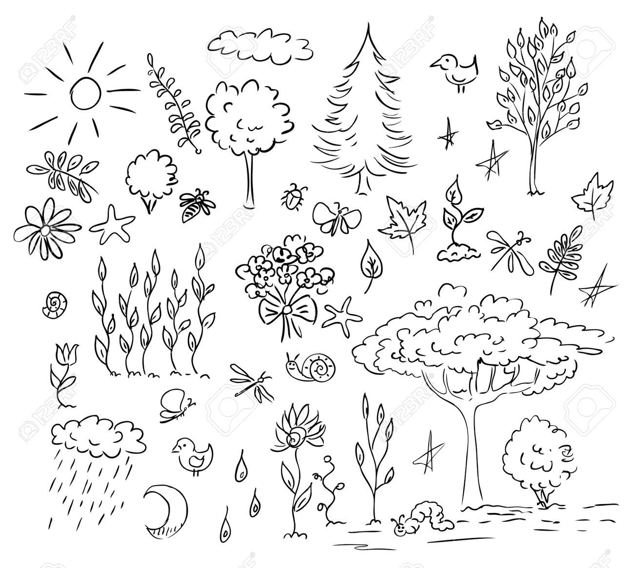 nature and environment set Stock Vector - 10958980