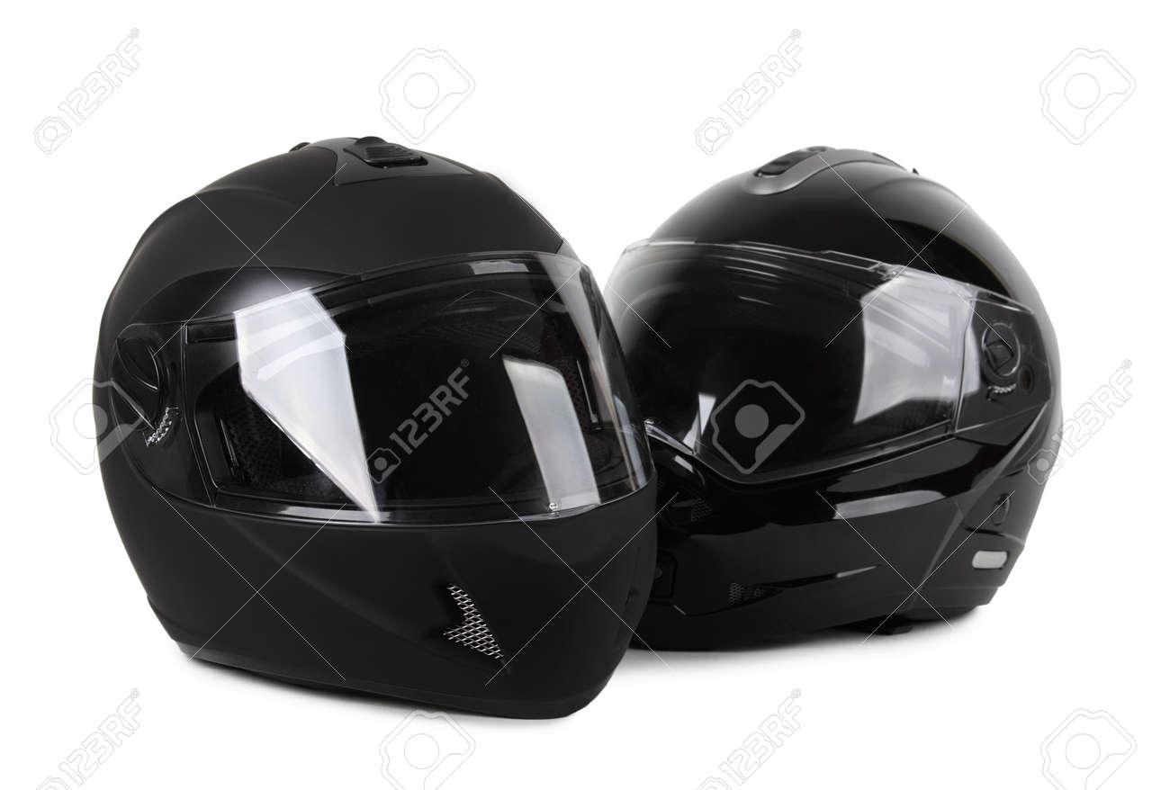 Twee zwarte motorhelmen gesoleerd royalty vrije foto plaatjes stockfoto twee zwarte motorhelmen gesoleerd thecheapjerseys Image collections