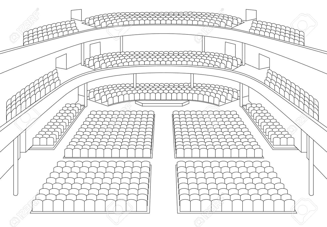 interior of theater hall plan vector Stock Vector - 13561206