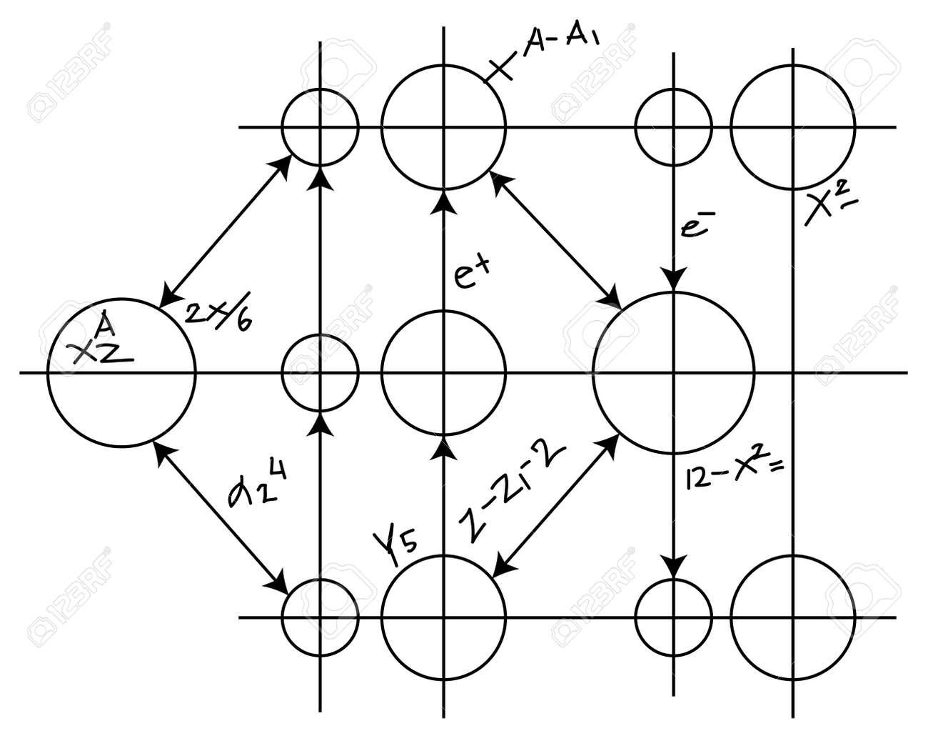 abstract scheme with circles vector Stock Vector - 13561149