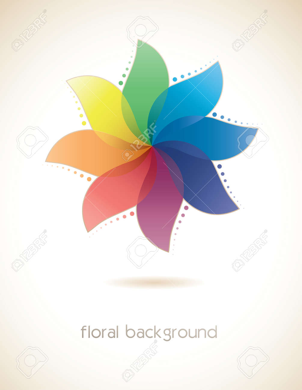 Abstract multicolored flower Stock Vector - 28787762