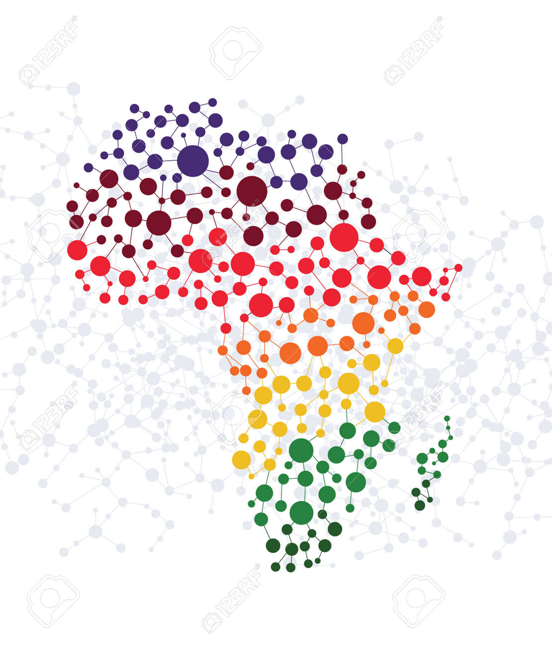 Africa abstract background with dot connection vector - 29384901