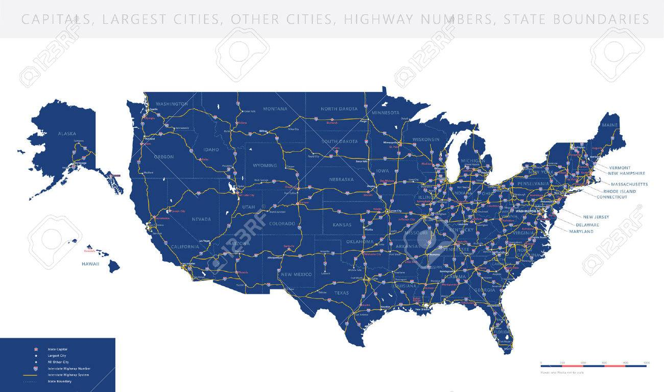 Map Usa Highway Map Images Map Of Iowa Map Of Major Interstate - Usa map states hwy