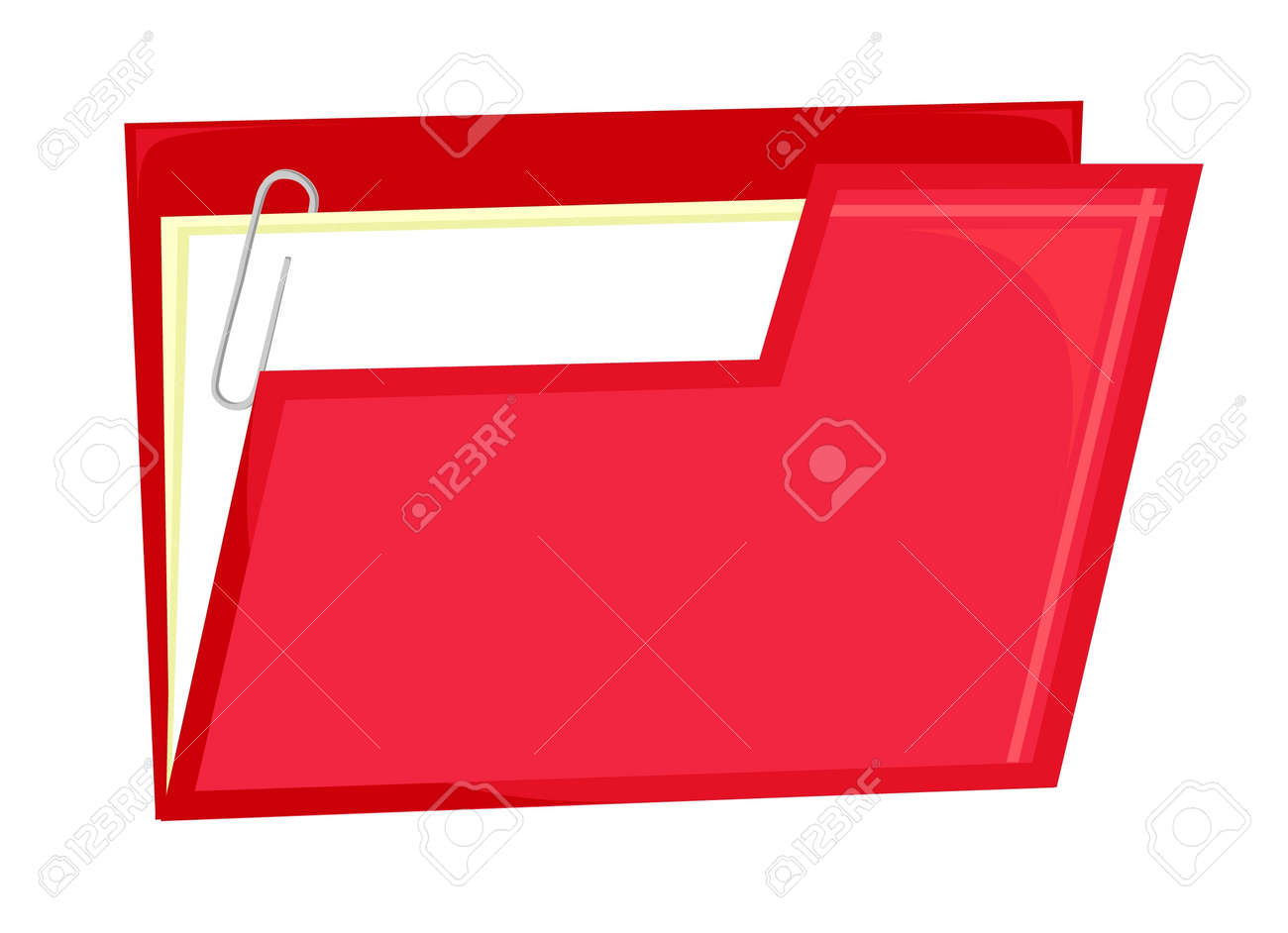 Red file icon (vector) Stock Vector - 18753740