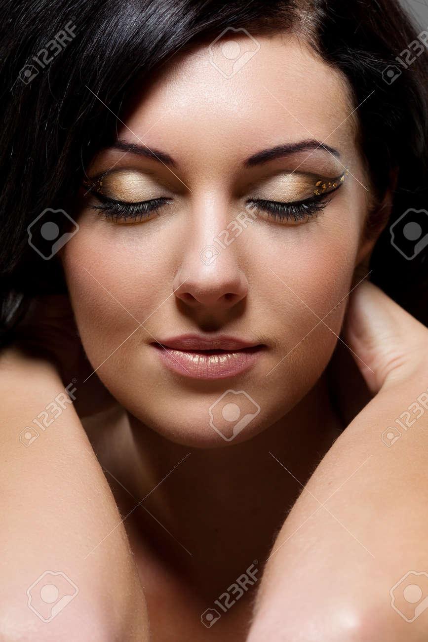 Close-up portrait of beautiful woman Stock Photo - 14485780