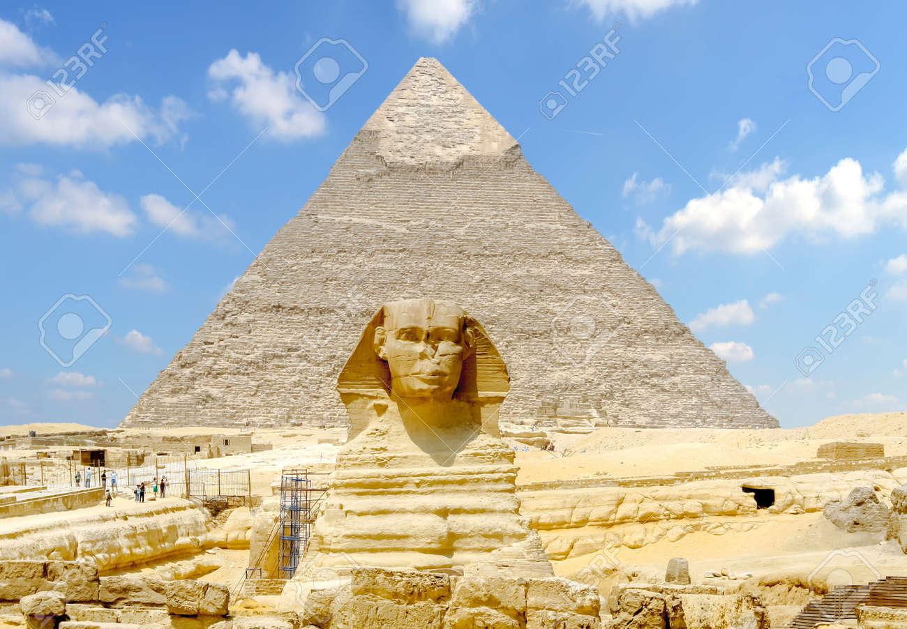 ギザの大スフィンクス。エジプト...