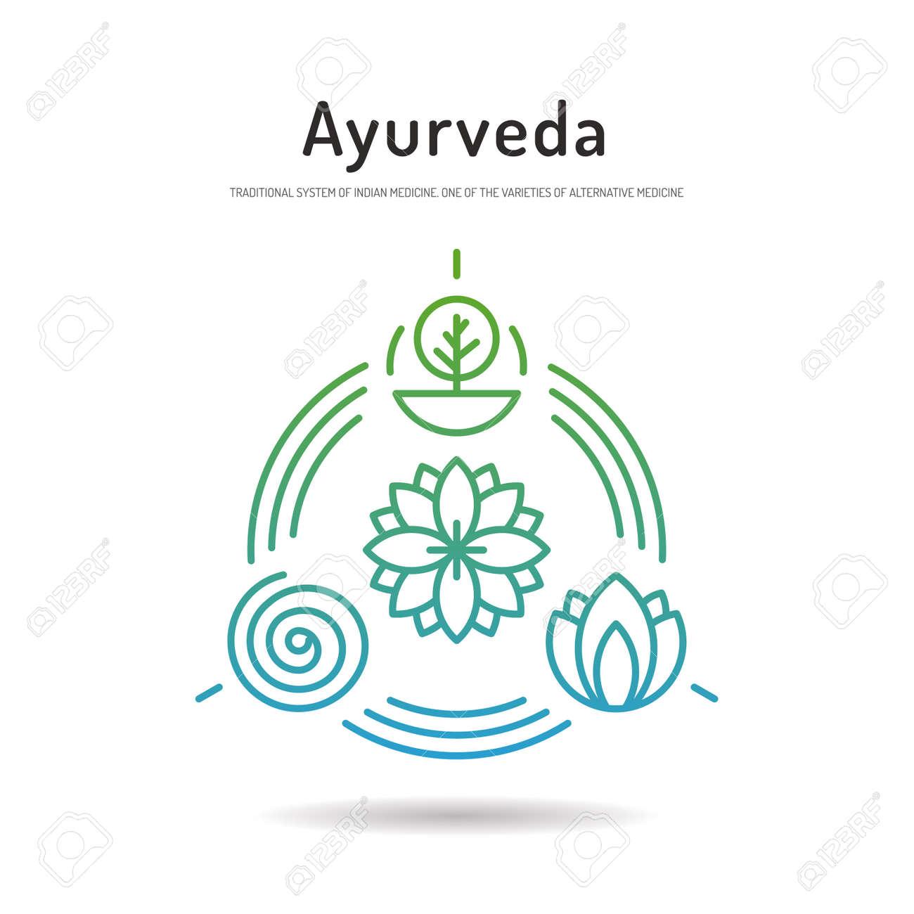 Ayurveda Illustration Icon Vat...