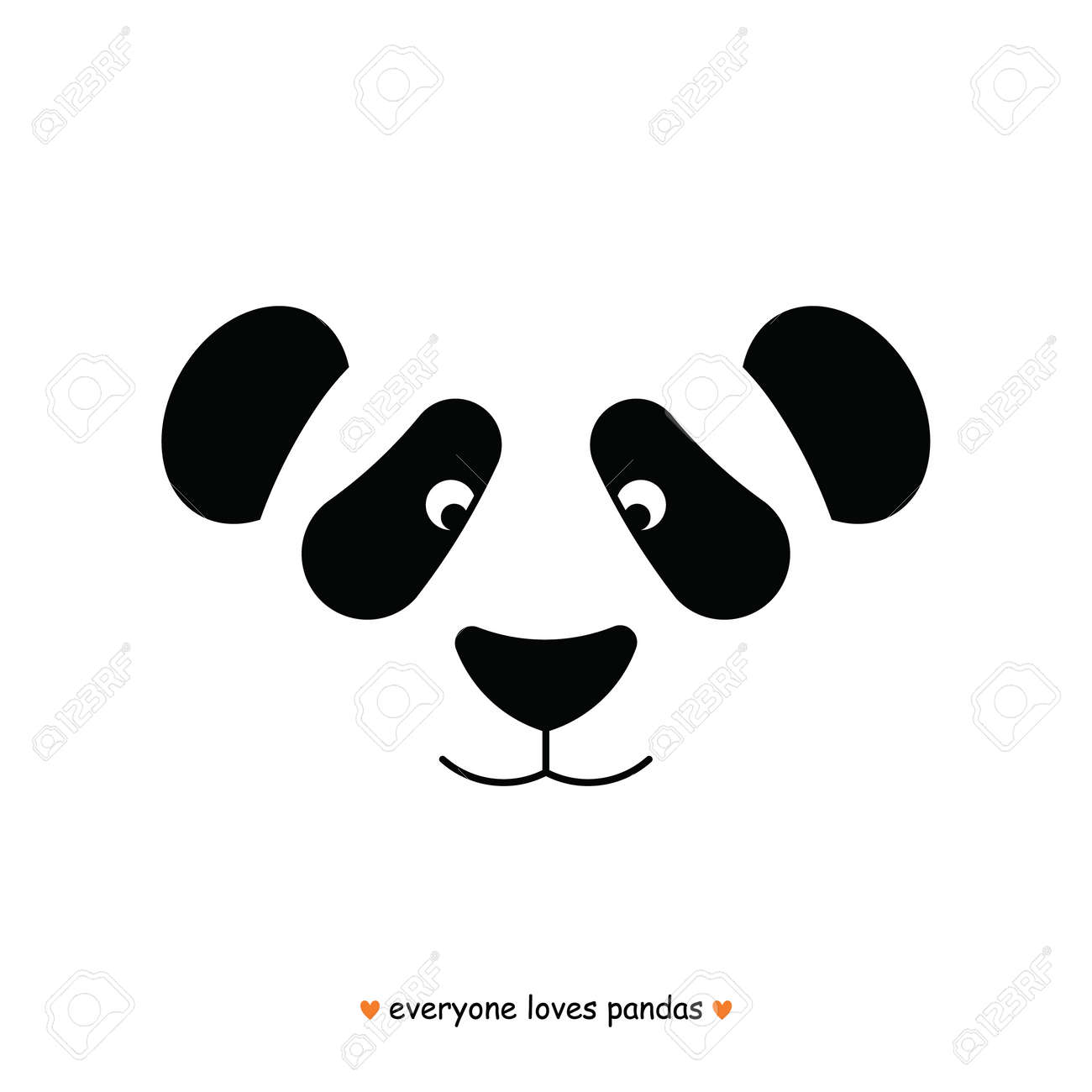 simple image of panda face design template stock vector 53170740