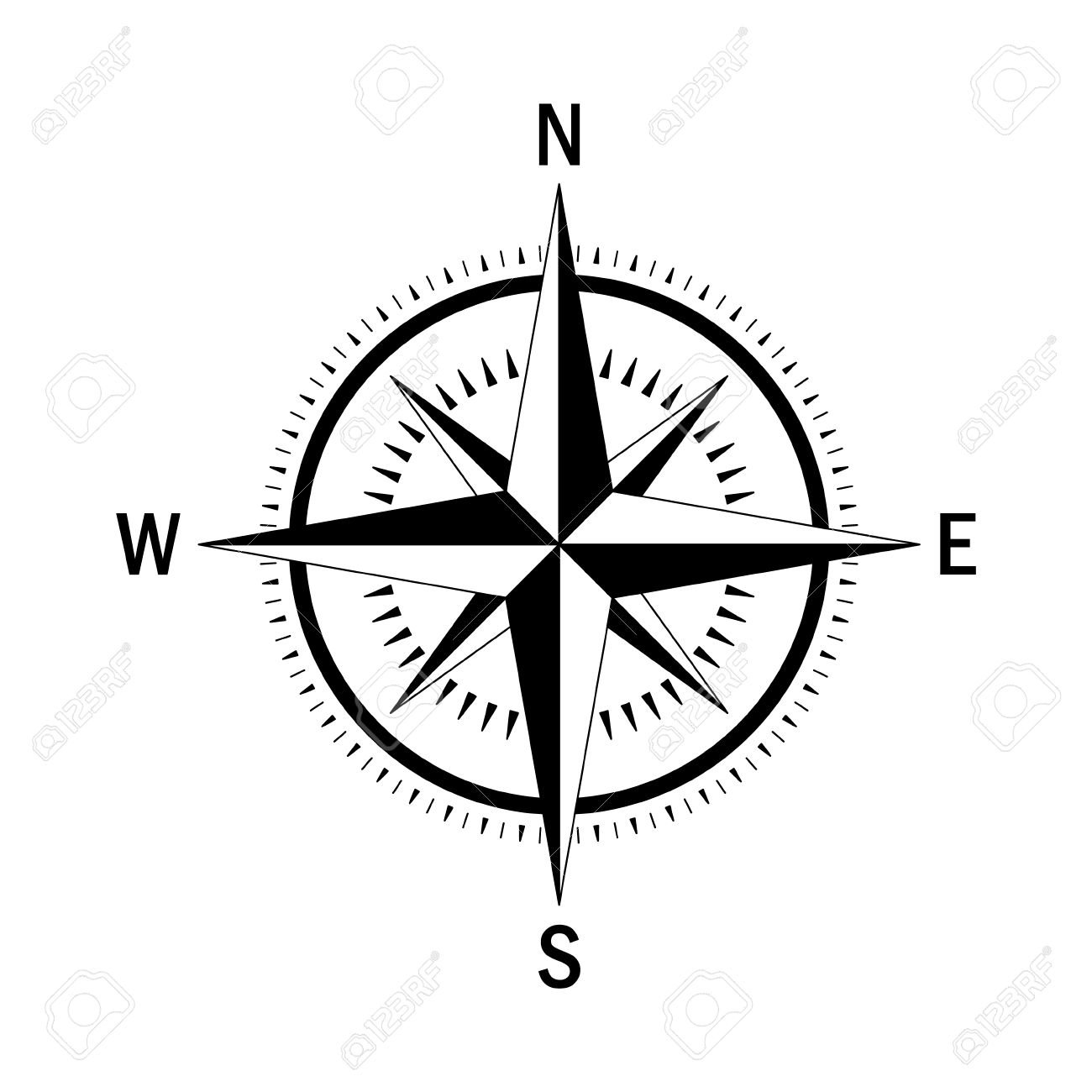 vector compass vector geo mark wind rose isolated vector compass