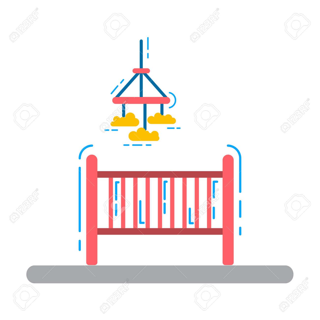 Conjunto De Elementos Para Una Habitación De Los Niños. La ...