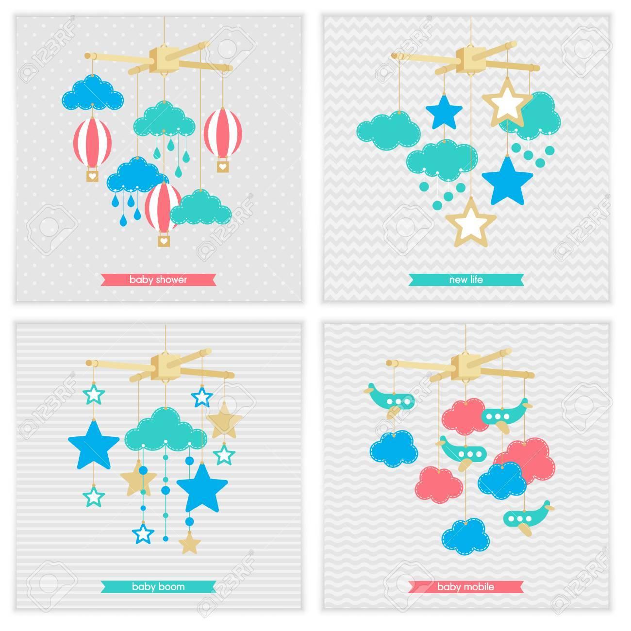 Invitation De Baby Shower Modele Illustration De Bebe Mobile