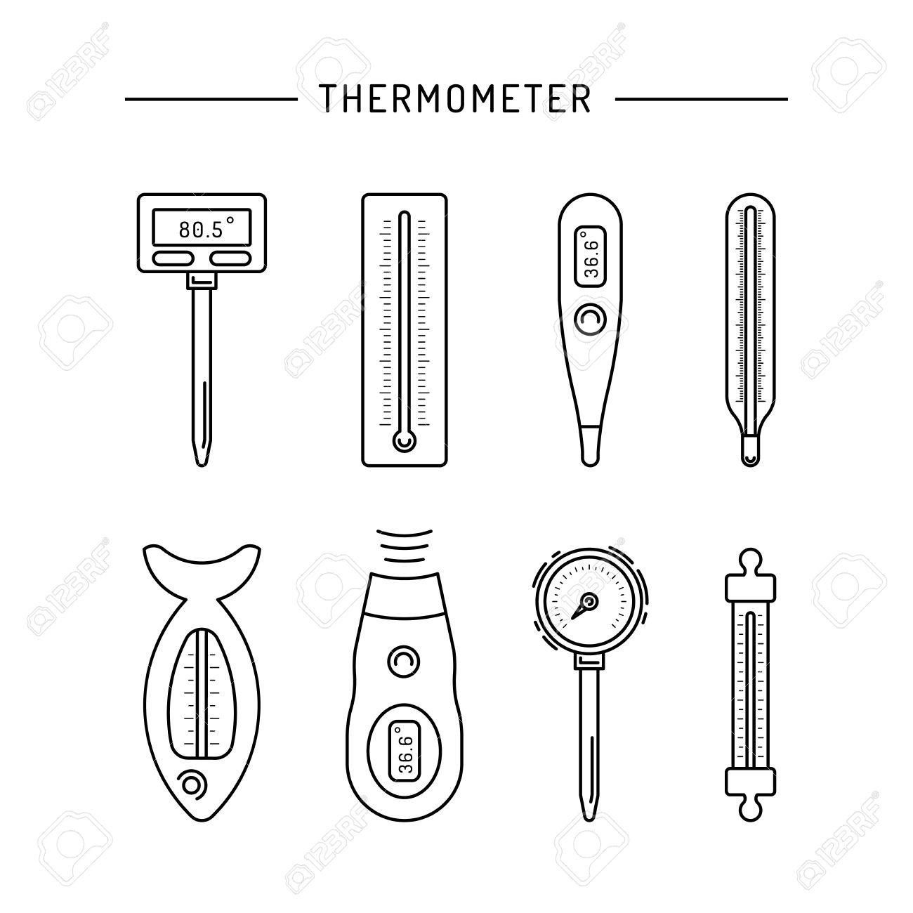 Iconos Termometro Imagen Se Dibujan En Un Estilo Lineal Un Dispositivo Para Medir La Temperatura Varios Tipos De Termometros Electronicos Infrarrojos Liquido La Medicion De La Temperatura Corporal La Comida El Medio Descubrí la mejor forma de comprar online. iconos termometro imagen se dibujan en un estilo lineal un dispositivo para medir la temperatura varios tipos de termometros electronicos