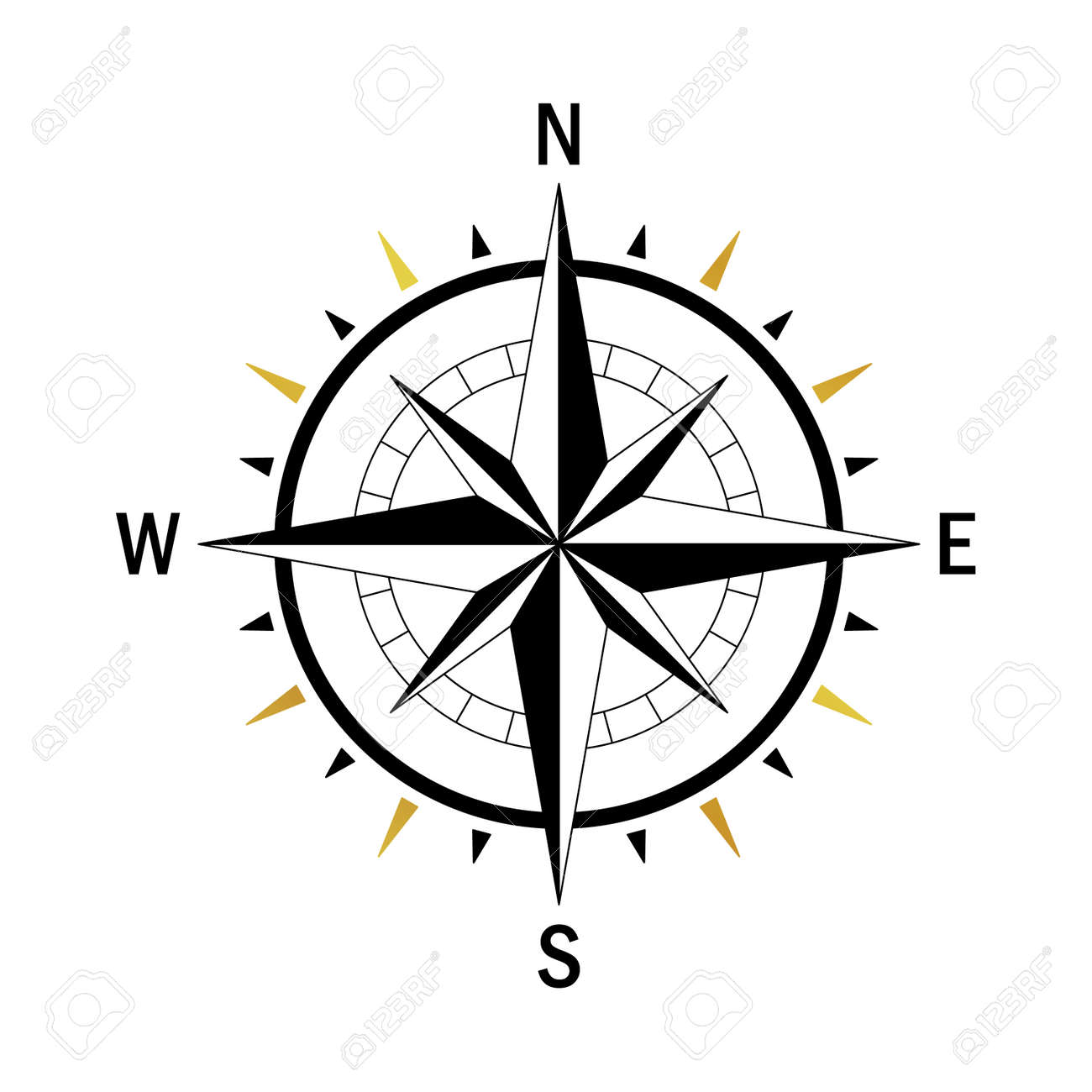 isolated vector compass vector geo mark wind rose rose wind rh 123rf com nautical compass vector compass vector material