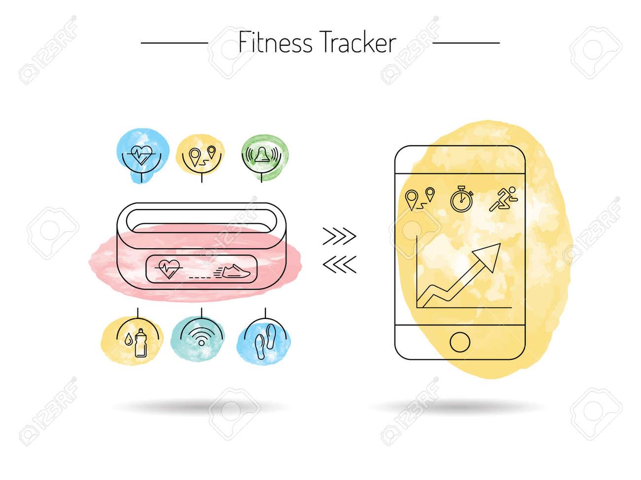 wearable electronics gadget fitness or activity tracker bracelet