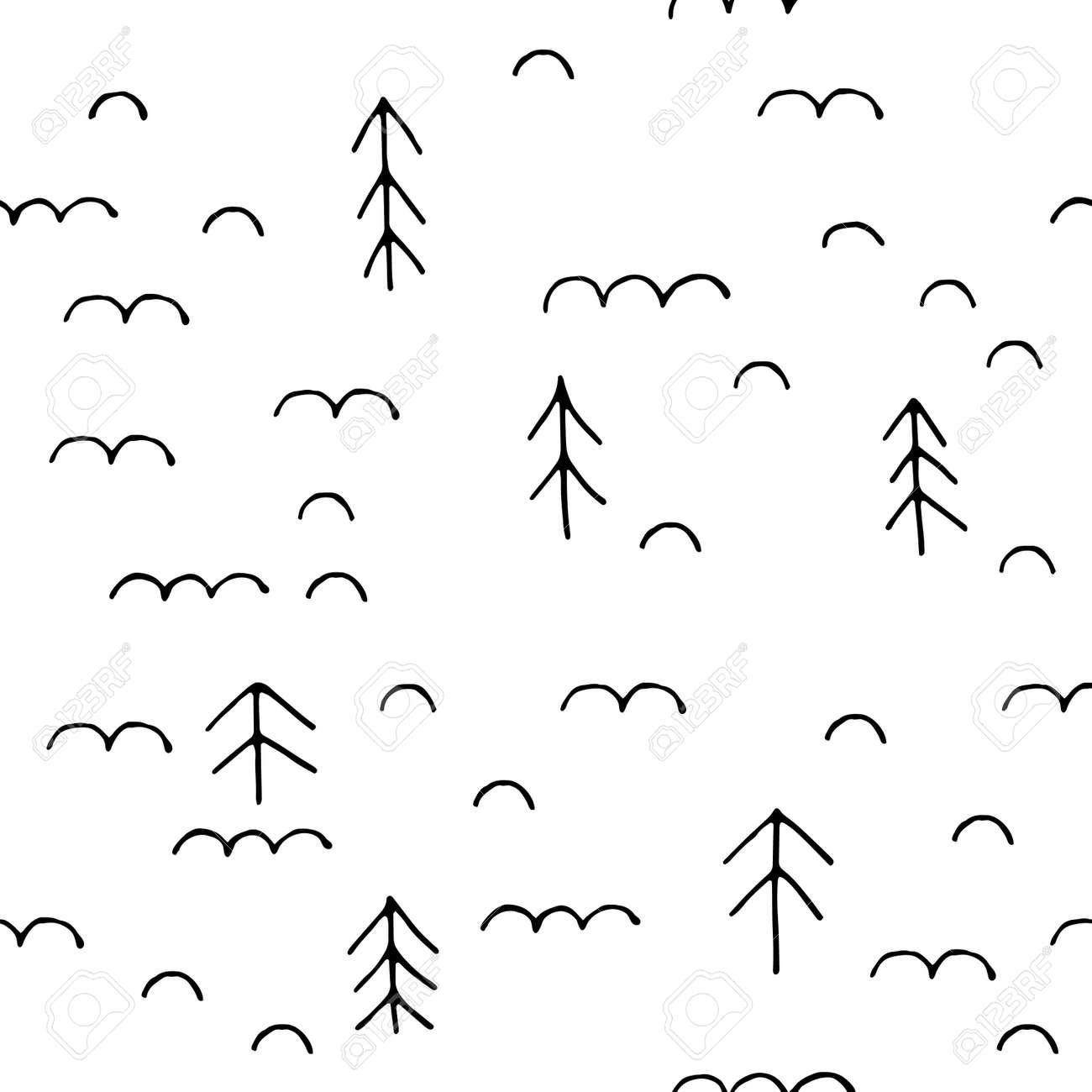 クリスマス ツリー ベクターグラフィックスの手描きのスカンジナビアの ...