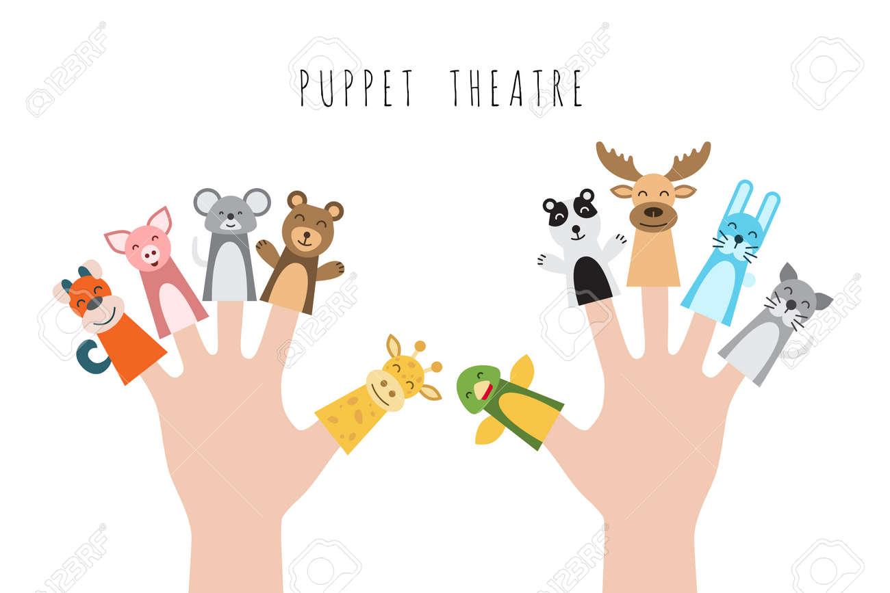Figuras De Animales Hroes Del Teatro De Tteres Que Ponen En Los