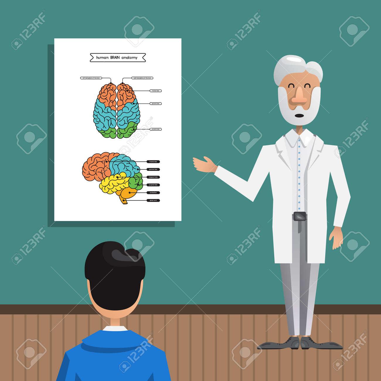 Ein Professor Erzählt Den Studenten über Die Struktur Und Anatomie ...