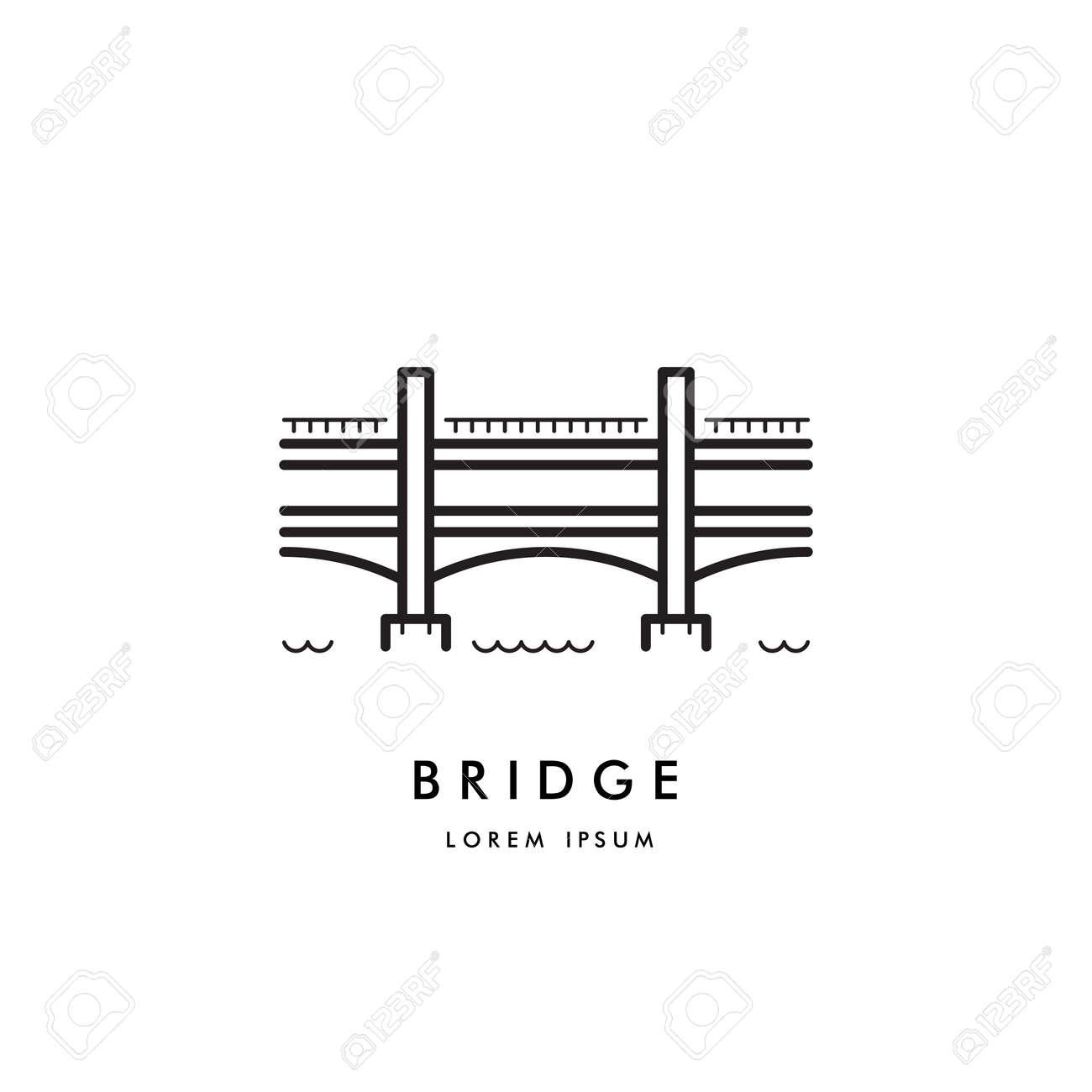 vector logo a simple two tier bridge the symbol of the artery