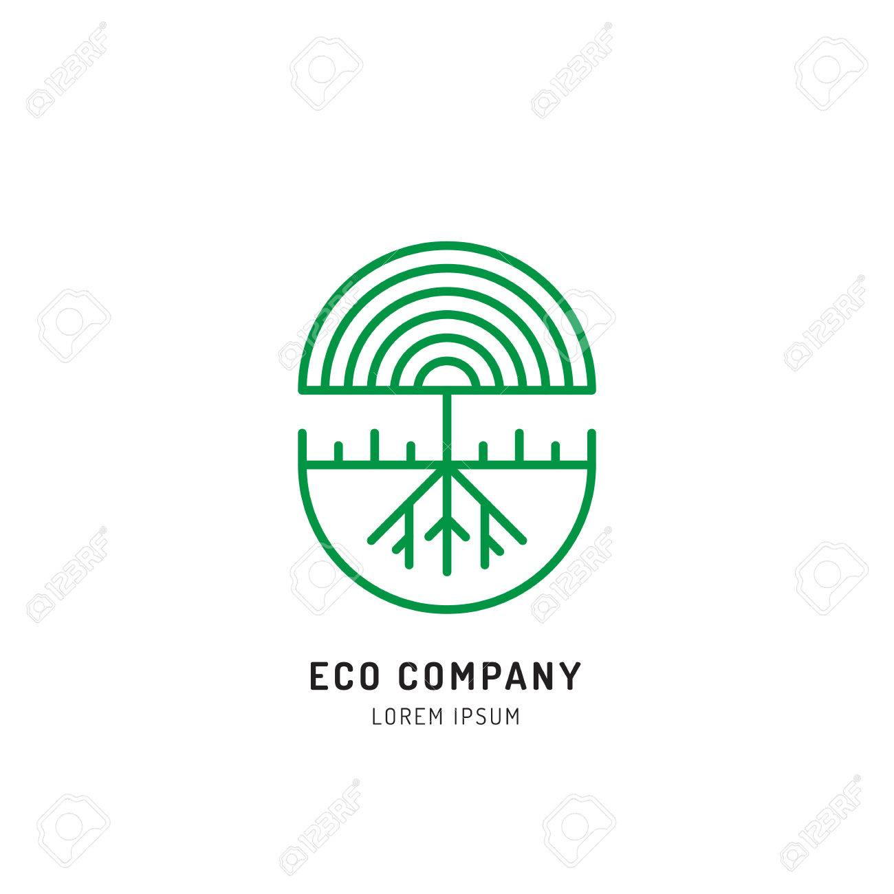 Vector Abstract Green Tree Logo Design Templates Outline Emblems Royalty Free Cliparts Vectors And Stock Illustration Image 82082483