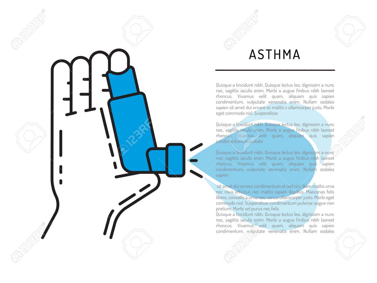 Inhalator Der Asthma-Vektor-Banner-Vorlage Für Medizinische Thema ...