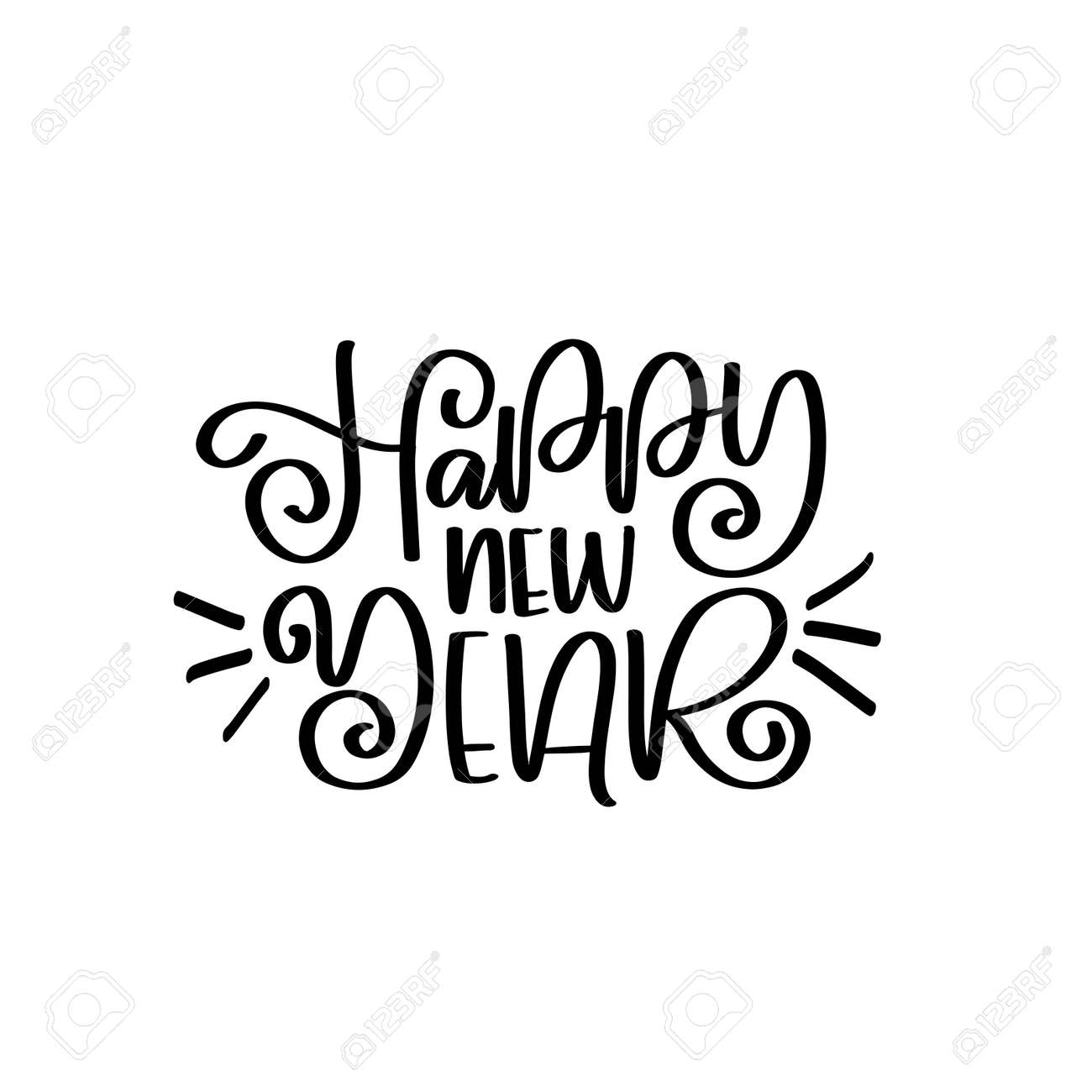 happy new year vector lettering quotes happy new year