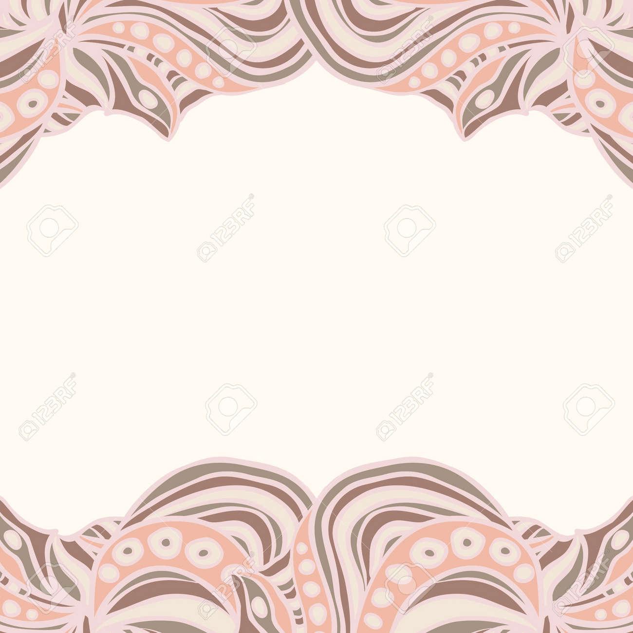 Bordi In Carta Da Parati.Bordi Rosa Con Ornamento Astratto Modello Puo Essere Usato Come Carta Da Parati Sfondo Della Pagina Web Invito Carta Di Design Ecc