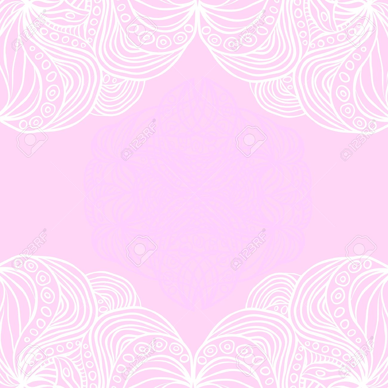Abstract White Borders On Pink Background Pattern Can Be Used