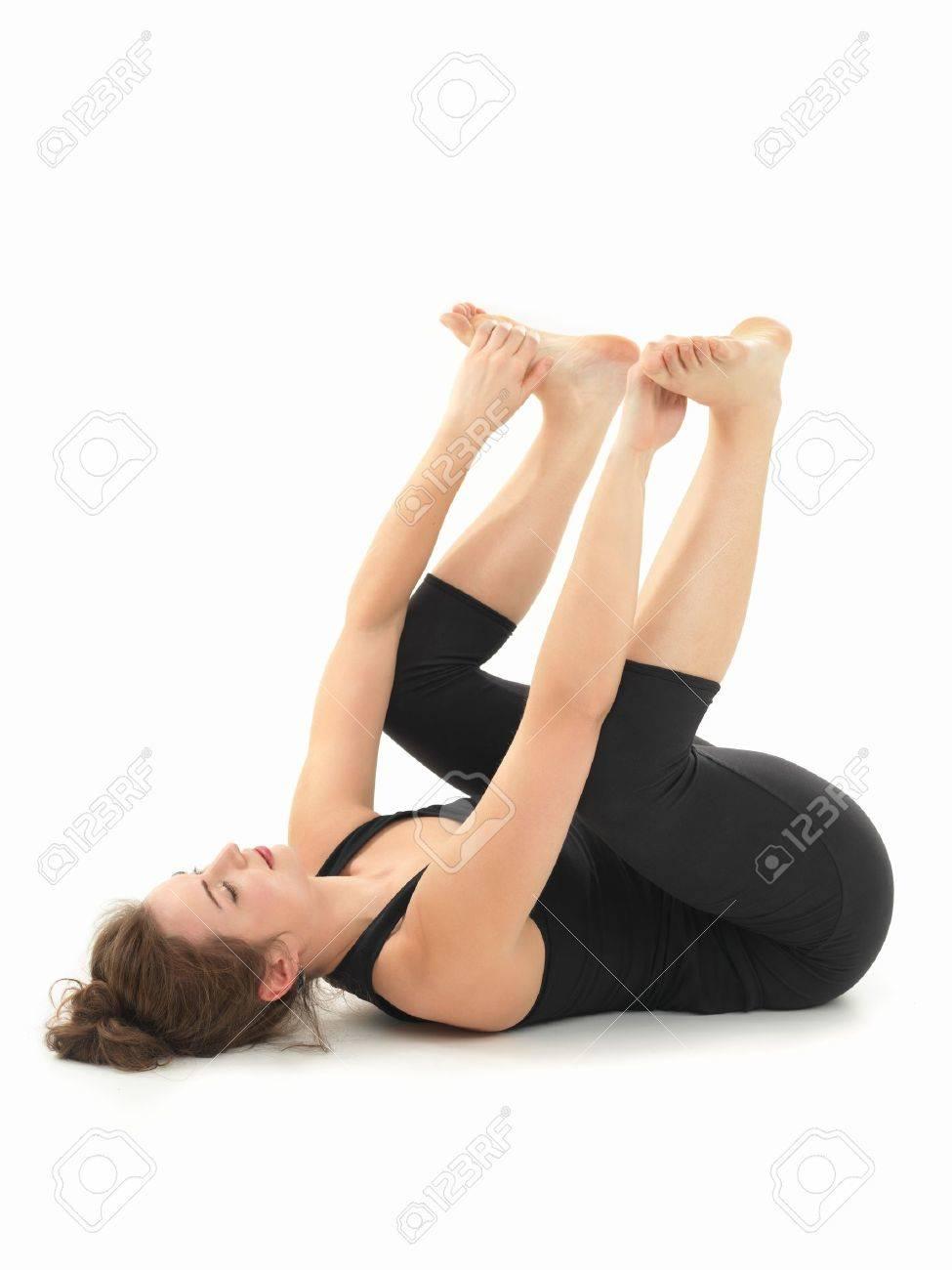 Banque d images - Jeune femme à pratiquer le yoga relaxation pose bd7b84ed819