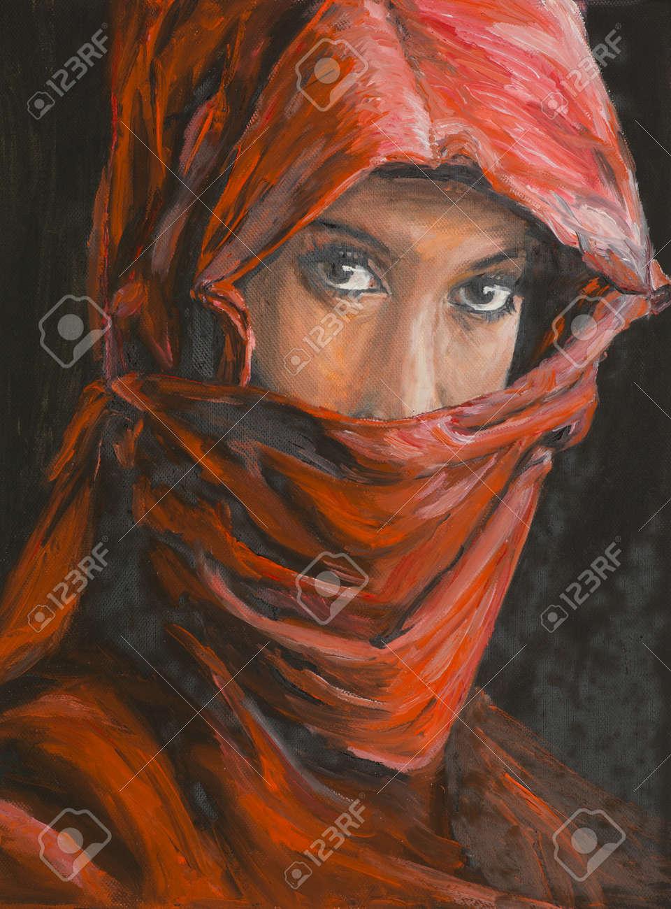 Peinture à L'huile Illustrant Le Portrait