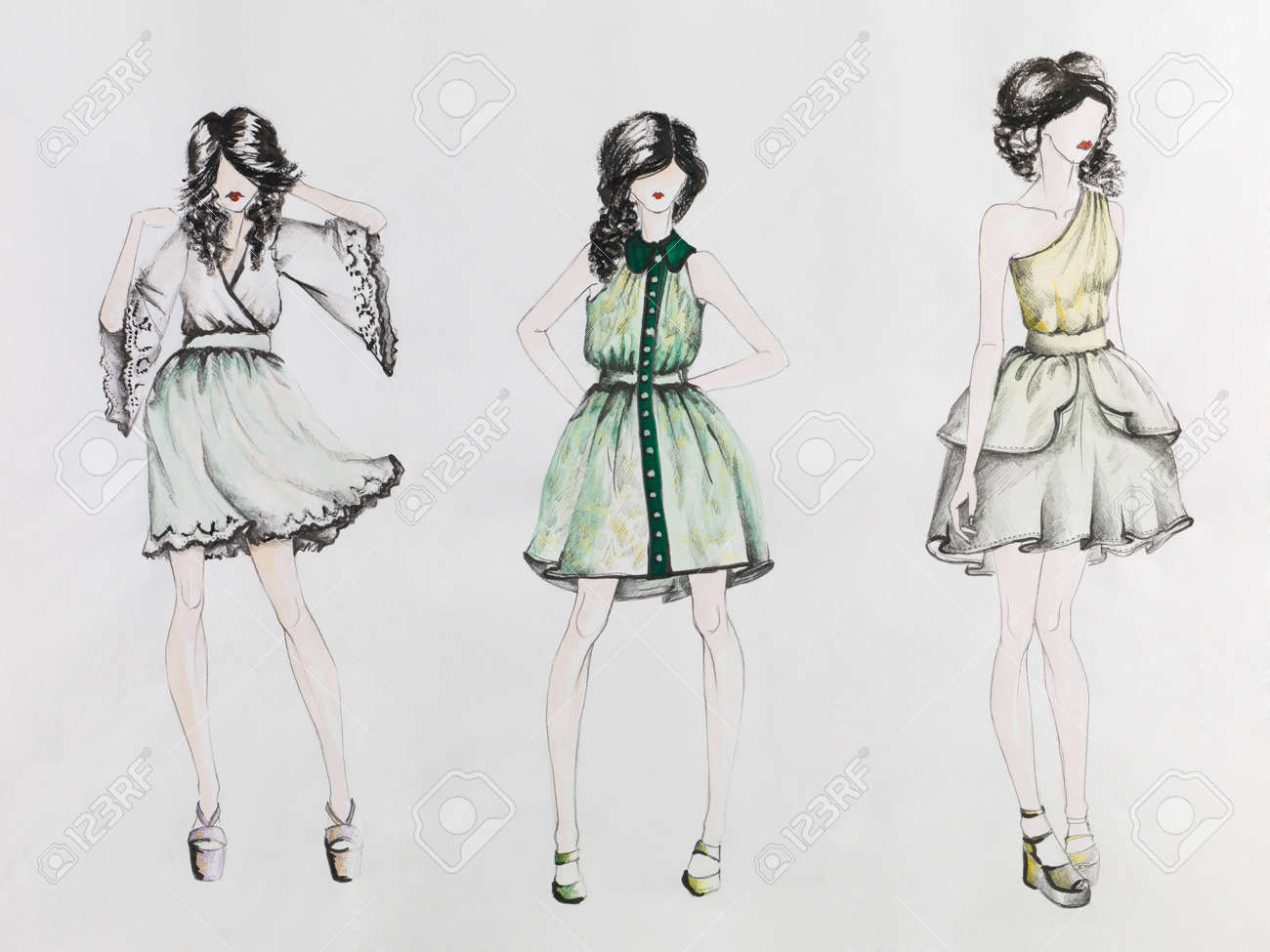 Hand drawn fashion designs 22