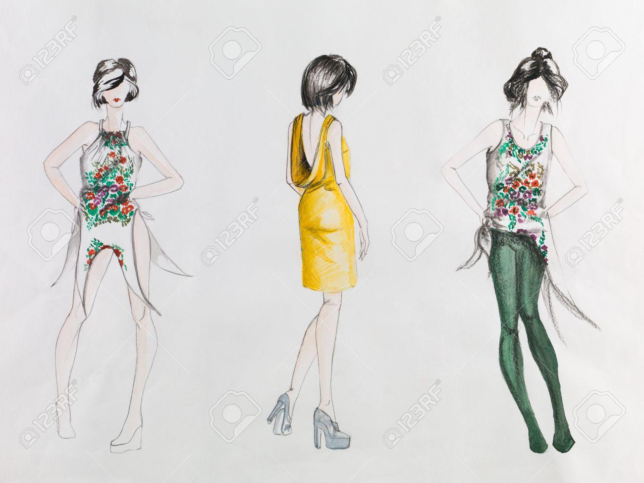 Fashion Sketch Royalty-Vrije Foto's, Plaatjes, Beelden En Stock ...