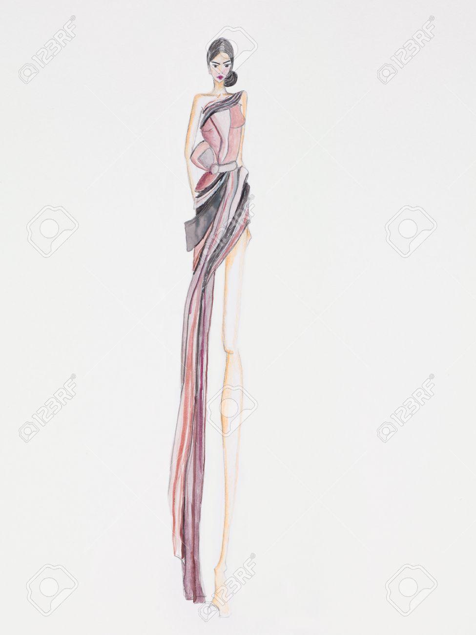 Ejemplo De La Moda De Alta Costura Diseño Vestido De Noche Fotos ...