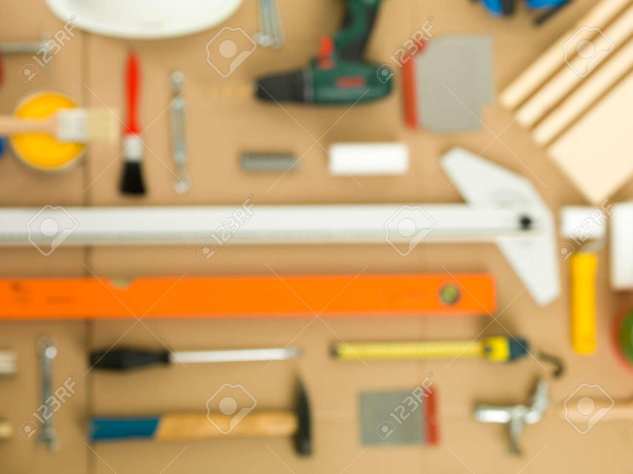background blur DIY work tools