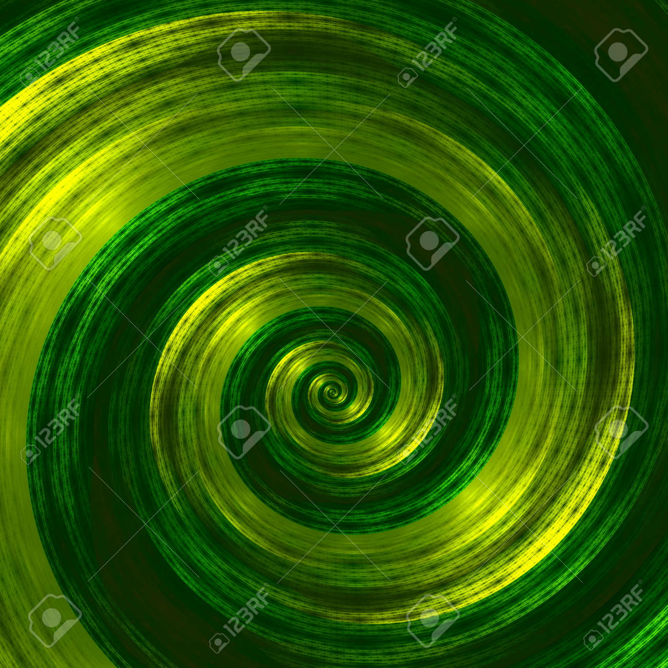 Creative Abstract Green Spiral Artwork. Beautiful Background.. Stock ...