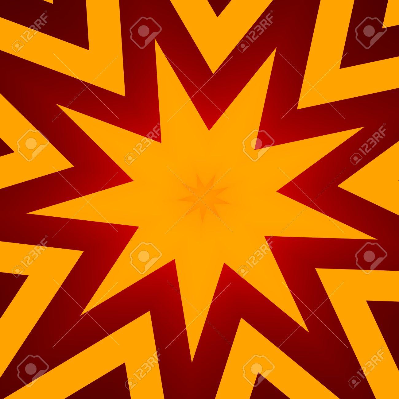 Background image header - Flat Design Star Illustration For Poster Abstract Orange Color Background For Header Or Banner