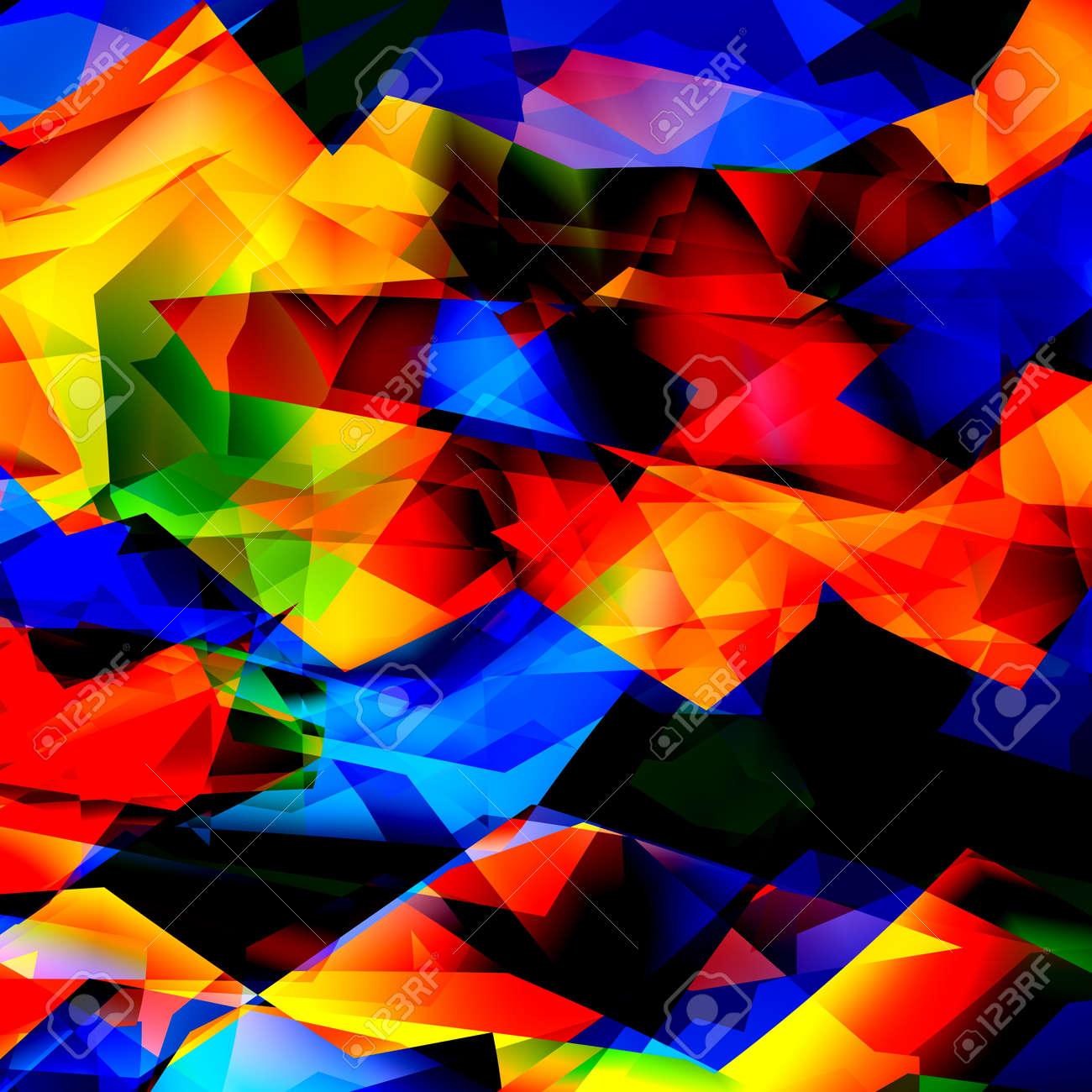 Textura De Fondo Geométricos De Colores O Un Patrón. Arte Del ...