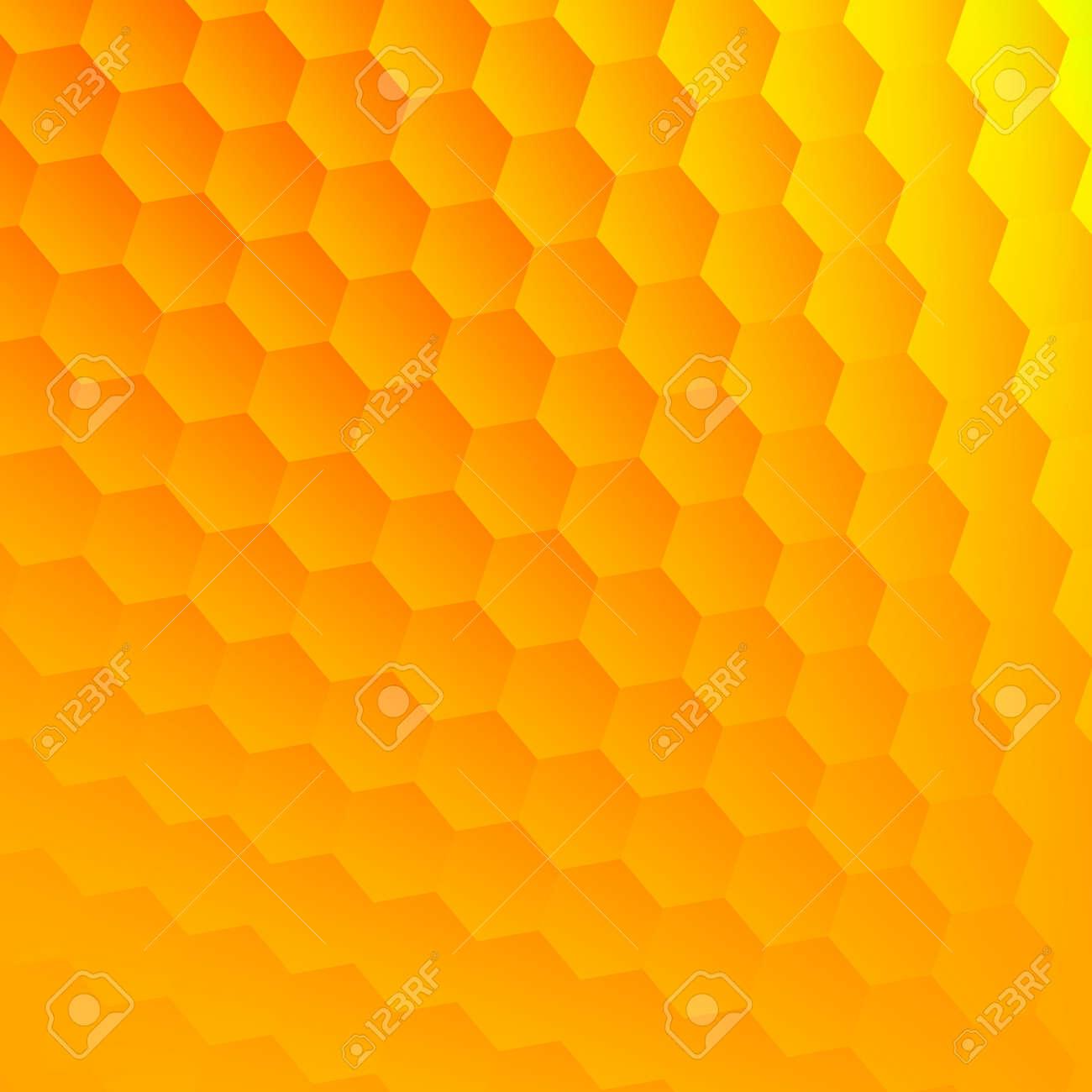Zusammenfassung Gelben Hexagone Hintergrund. Kühle Sechseck Gitter ...
