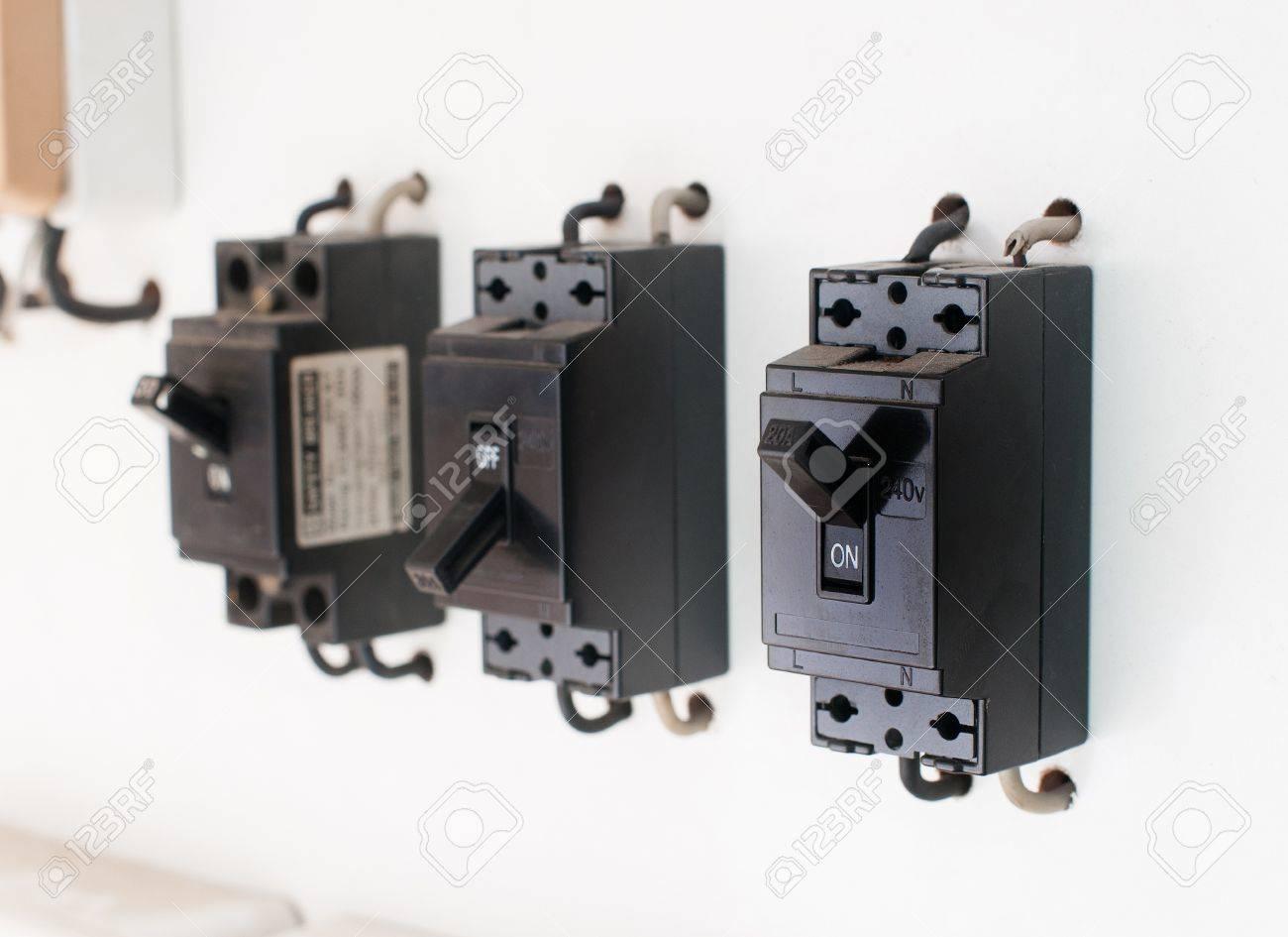 Breaker switch. Stock Photo - 17361858