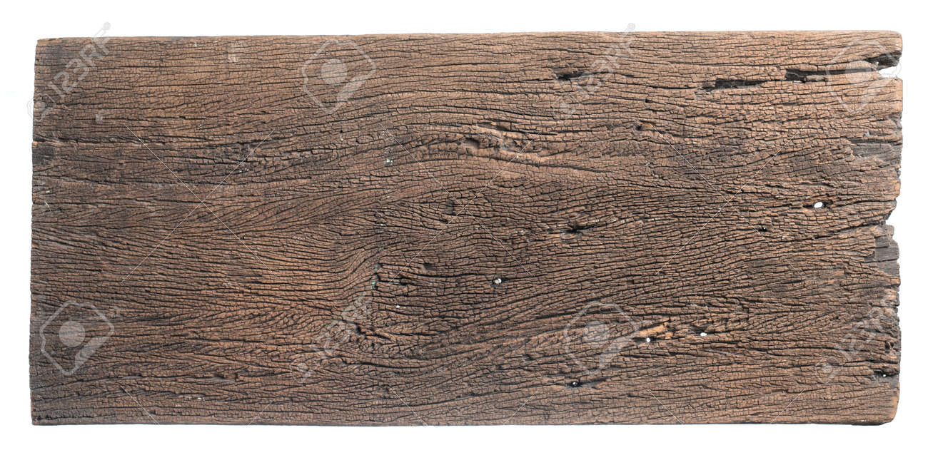 Old wooden sign board background for add text design - 141303999