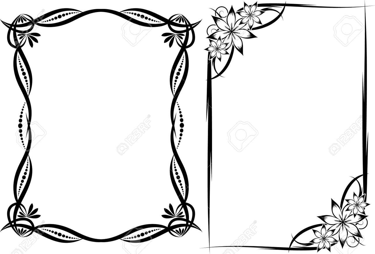 Cornici Floreali Clipart Royalty-free, Vettori E Illustrator Stock ...