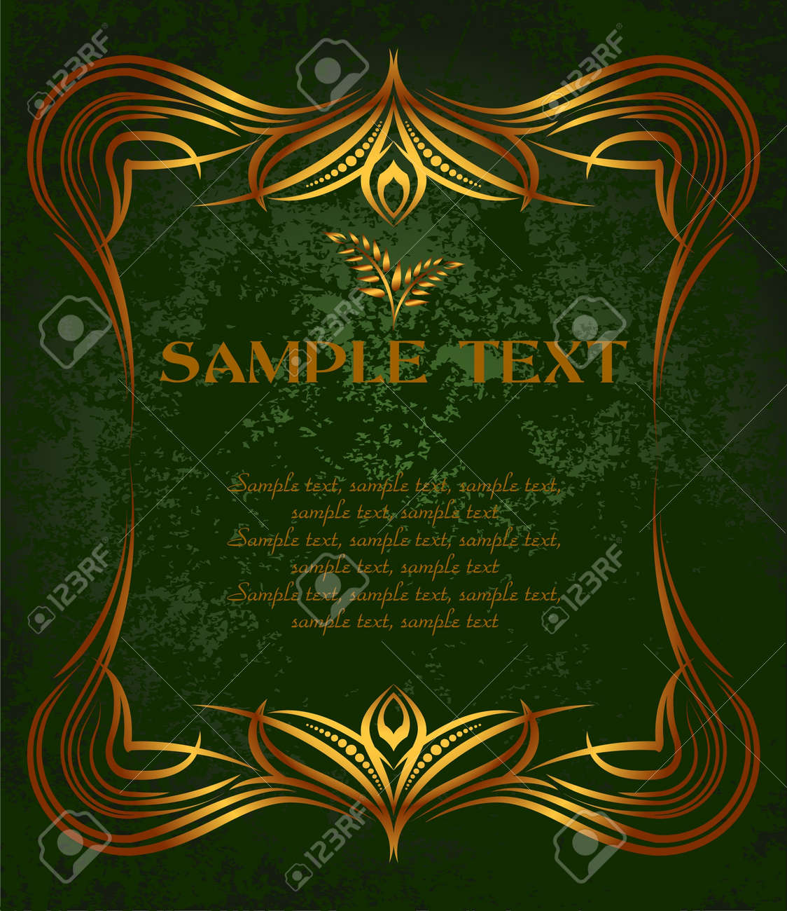 Golden background for food and drink industry. Stock Vector - 7099860