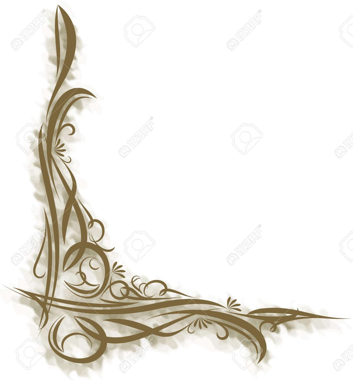 Decorative branch on grunge background - 9930171