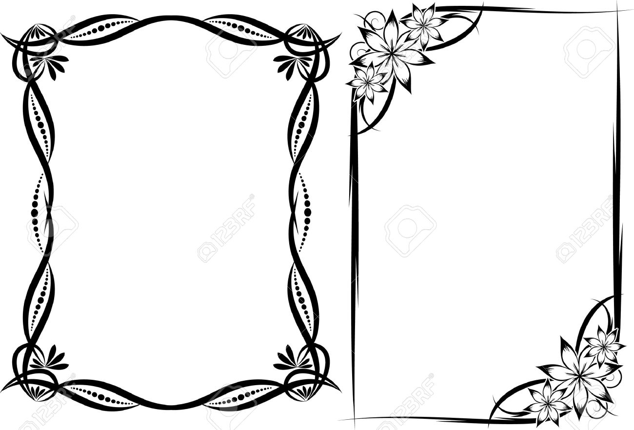 collection of decorative frames stock vector 10707272 - Decorative Frames