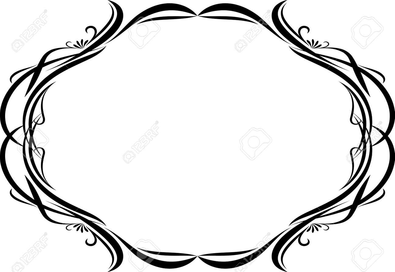 Elegant oval frame - 10707126