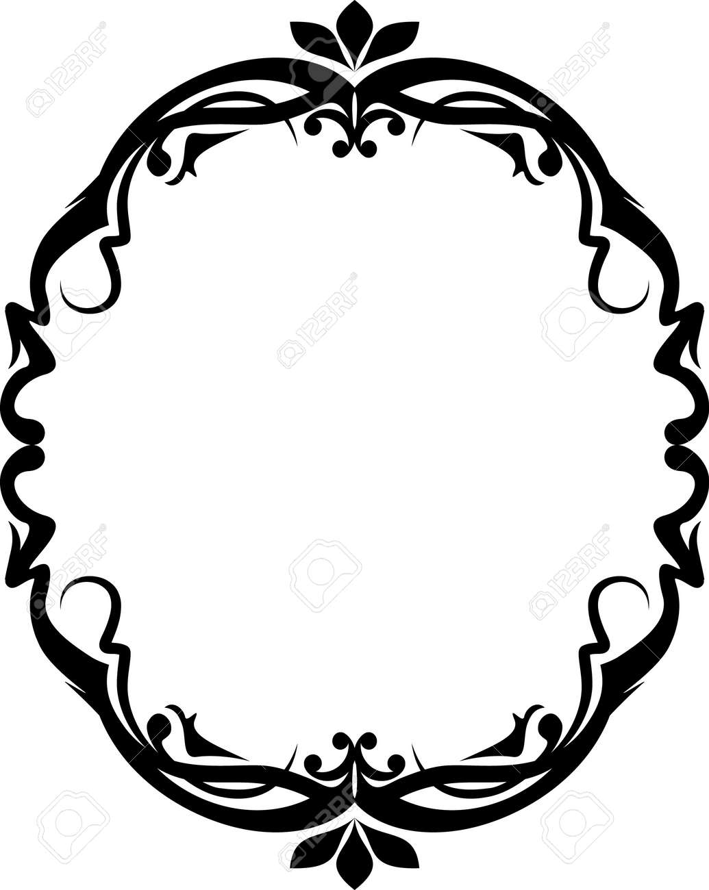 Elegant oval frame - 10707094