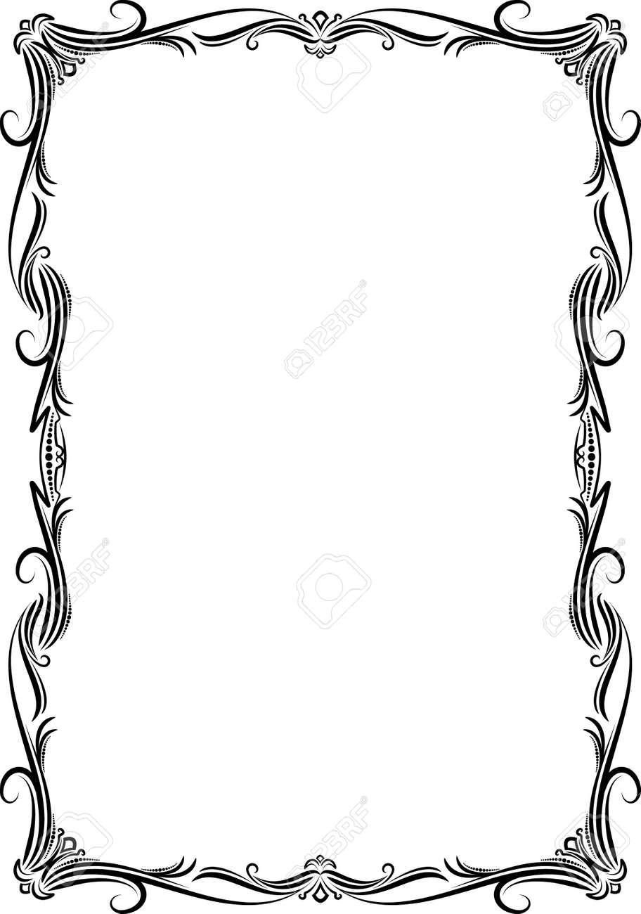 Elegant decorative frame. - 10707329