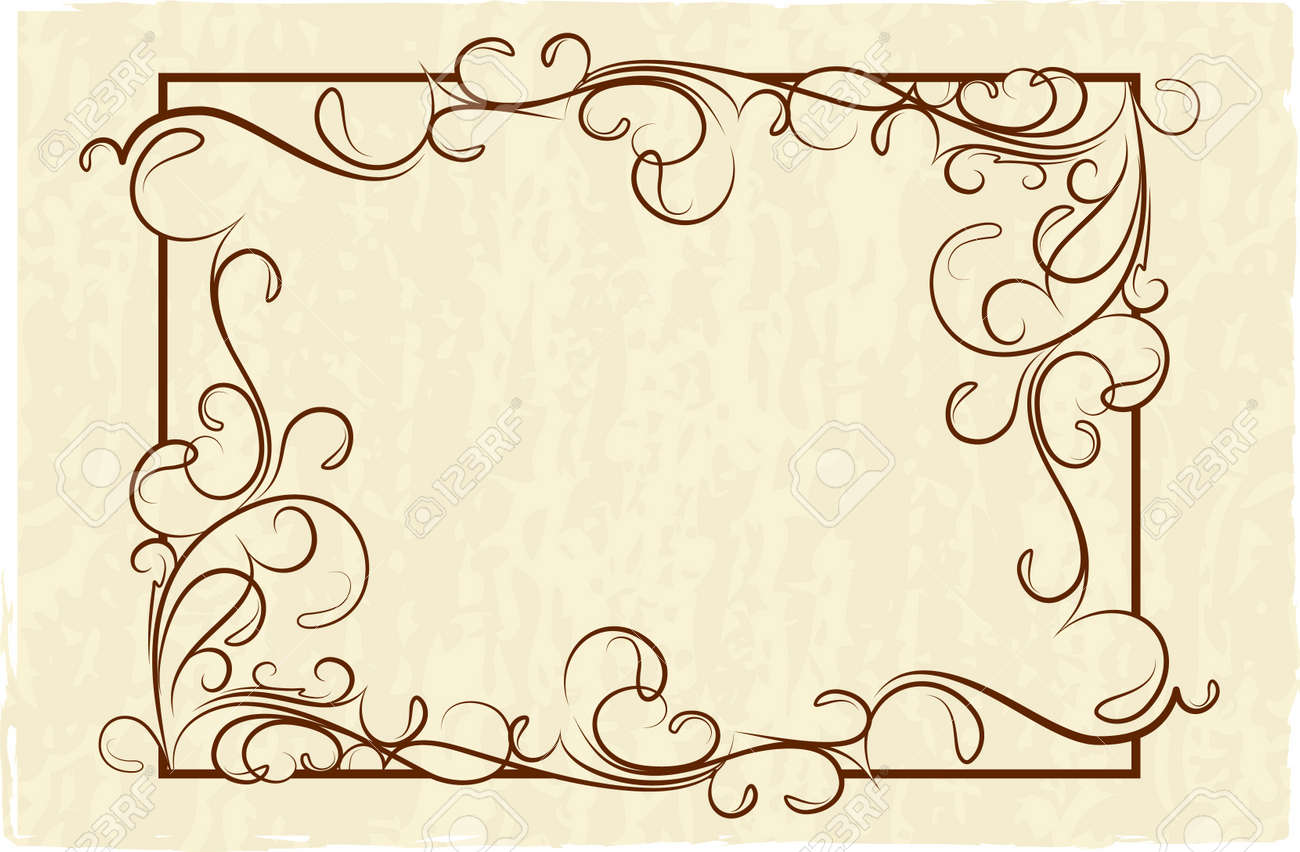 Old Frame (vector) Royalty Free Cliparts, Vectors, And Stock ...
