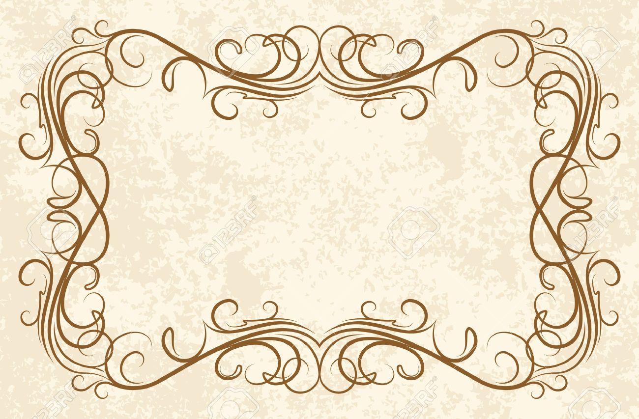 old frame (vector) Stock Vector - 10708877