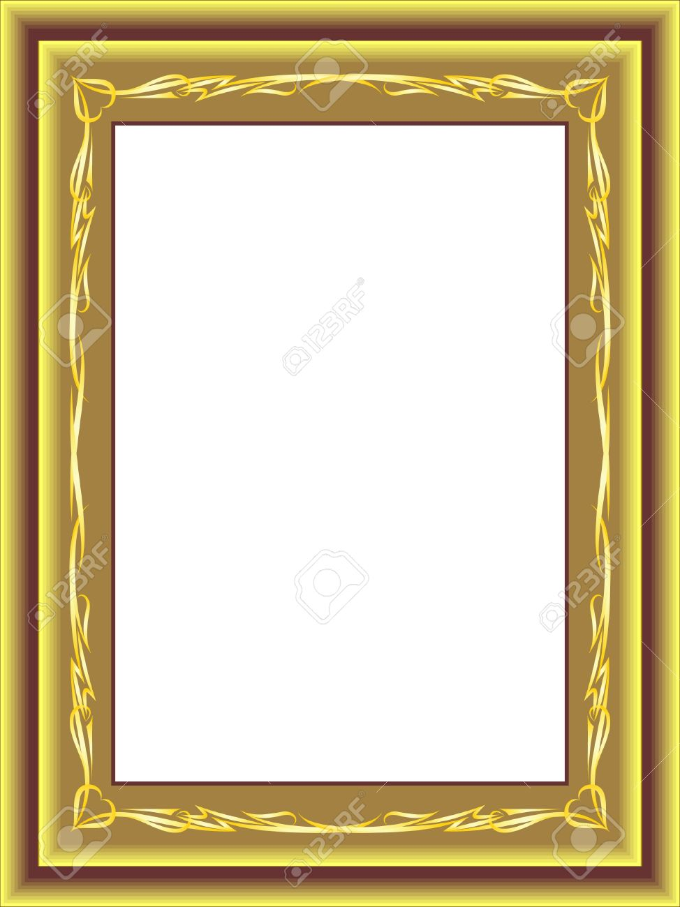 antique gold frame vector royalty free cliparts vectors and rh 123rf com picture frame vector free picture frame vector ai