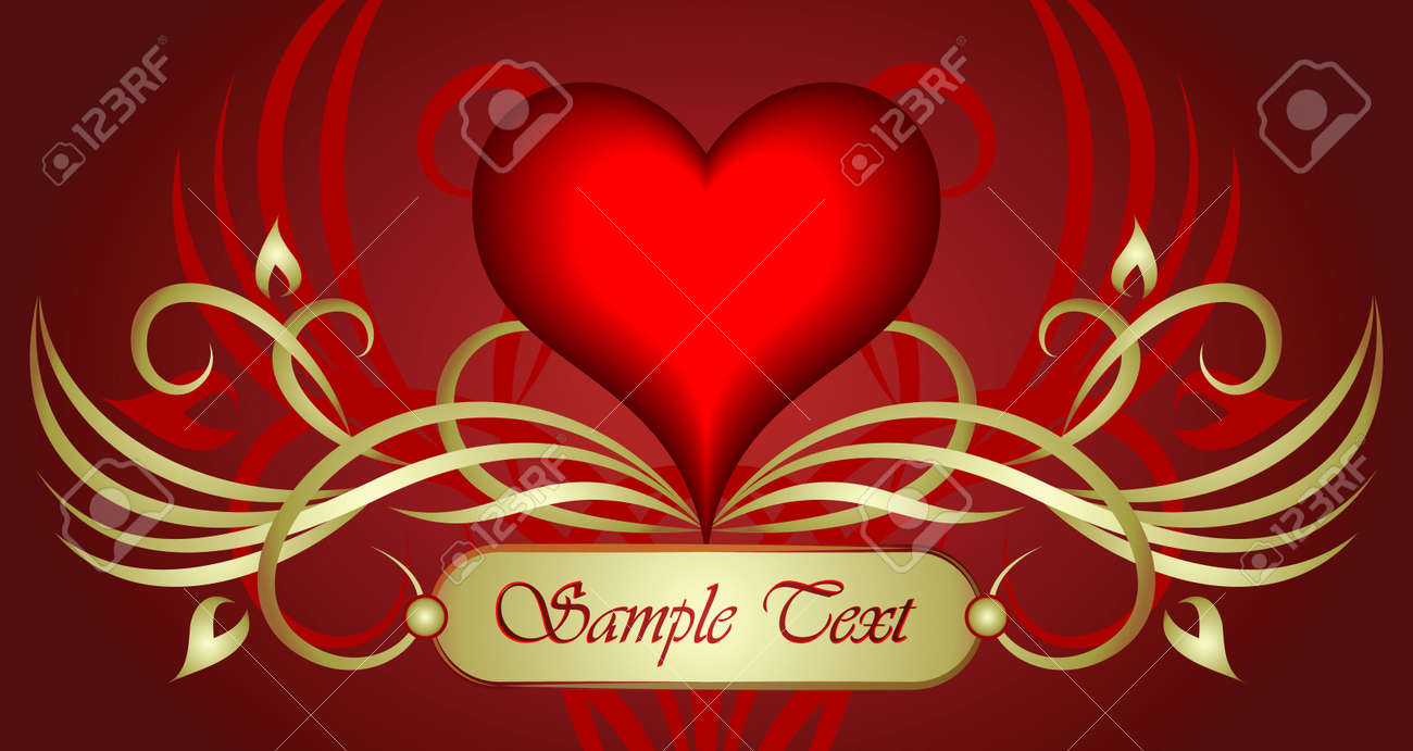 Valentine heart. Vector illustration. Stock Vector - 10707250